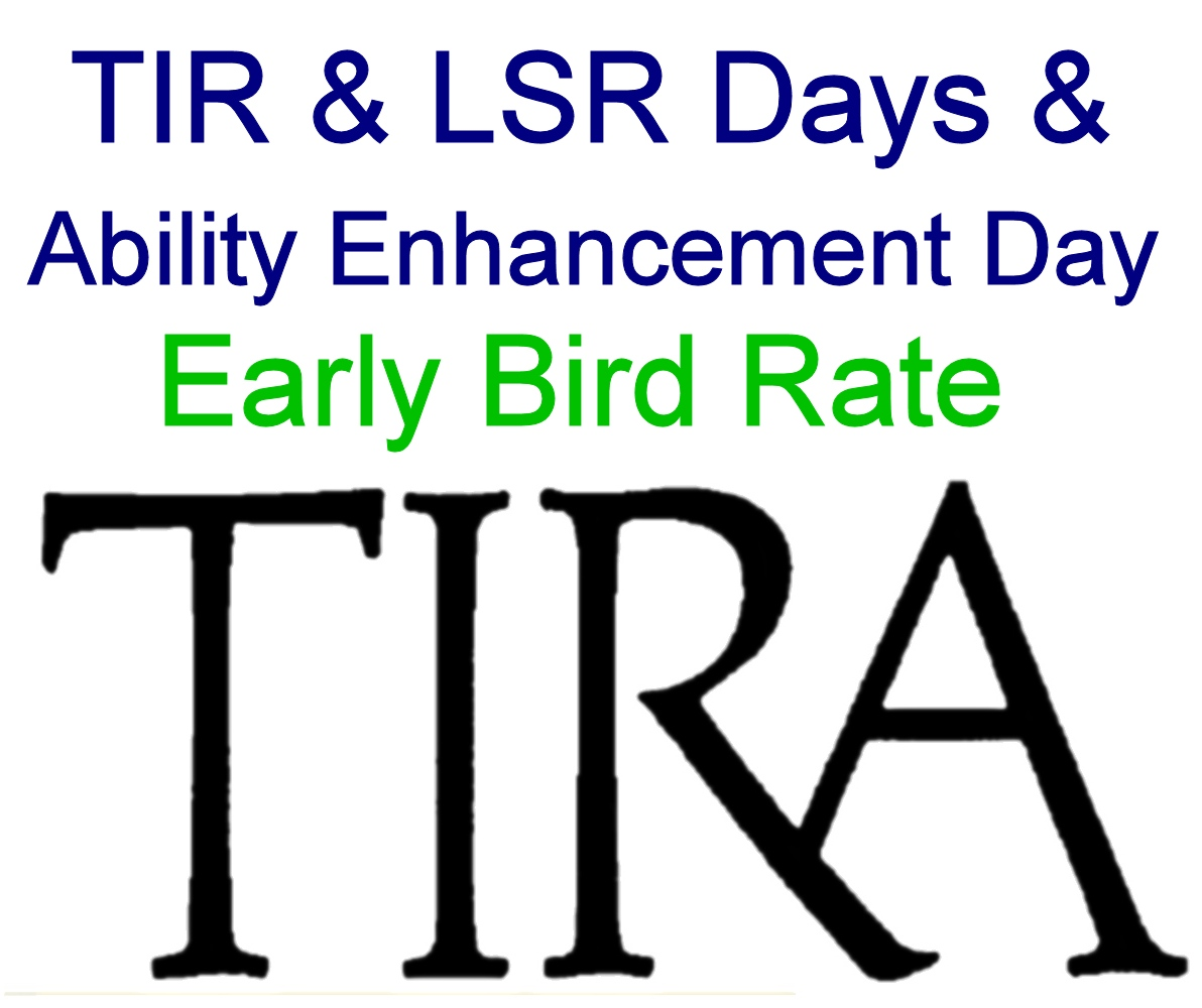 Early Bird: TIR & LSR Days and Ability Enhancement Day